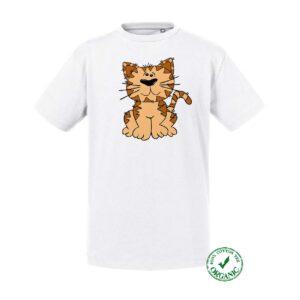 T-shirt criança Gato sentado
