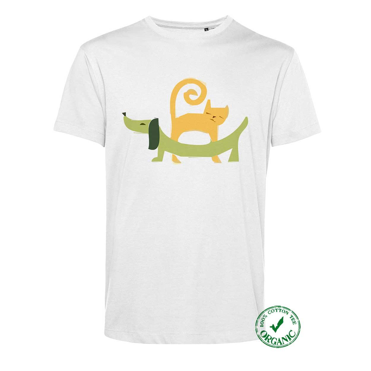 T-shirt Cão e Gato