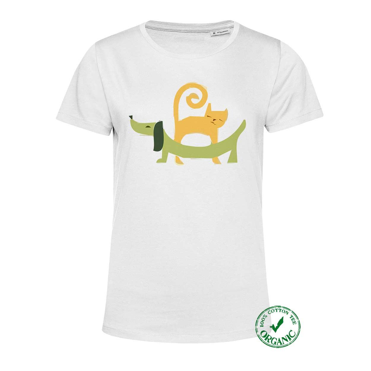 T-shirt Senhora Cão e Gato